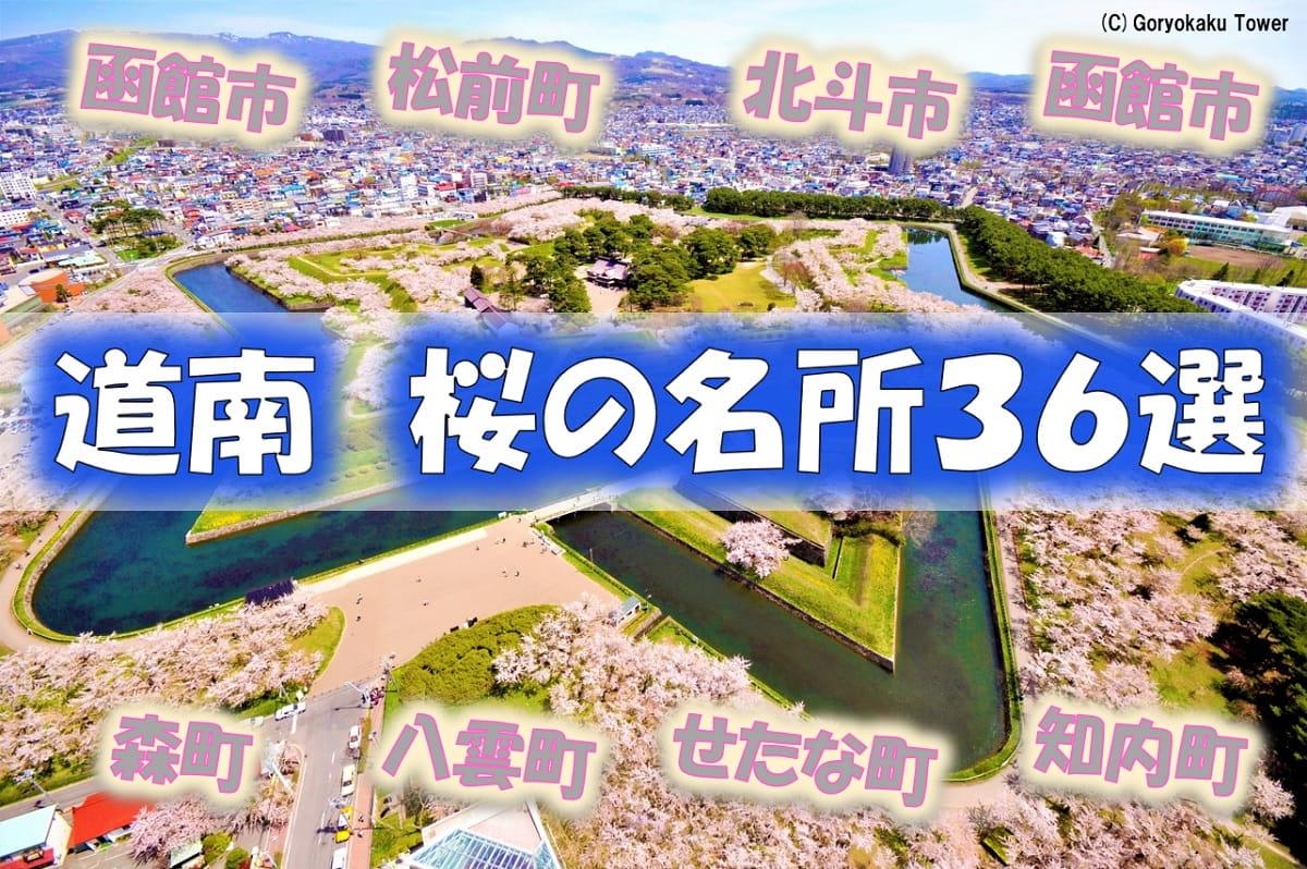 道南 桜の名所 函館市、北斗市、松前町、森町、八雲町